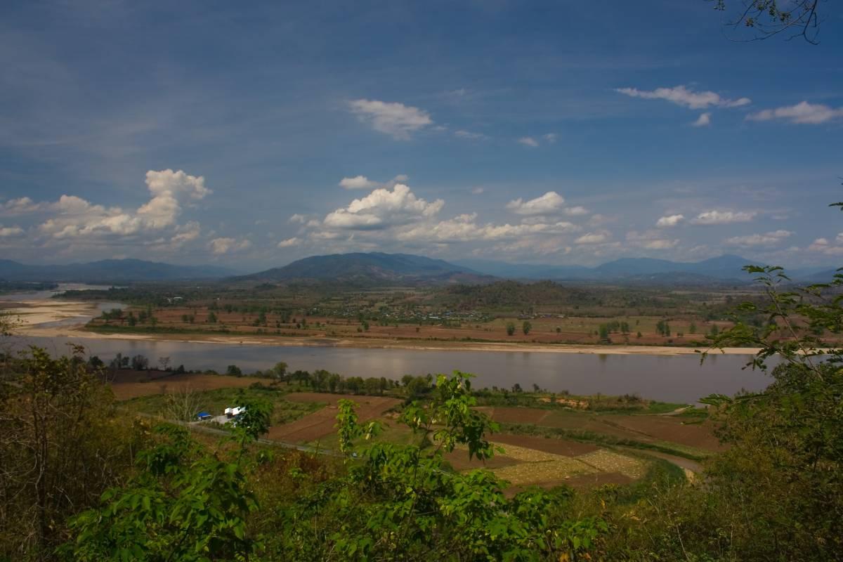 Fluss Mekong Thailand Laos