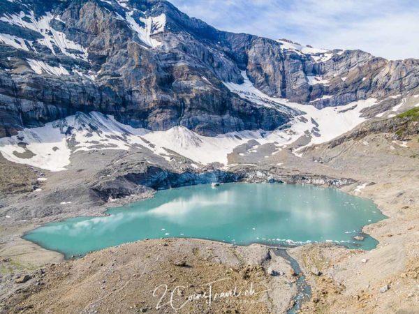 Drohnenaufnahme Gletschersee