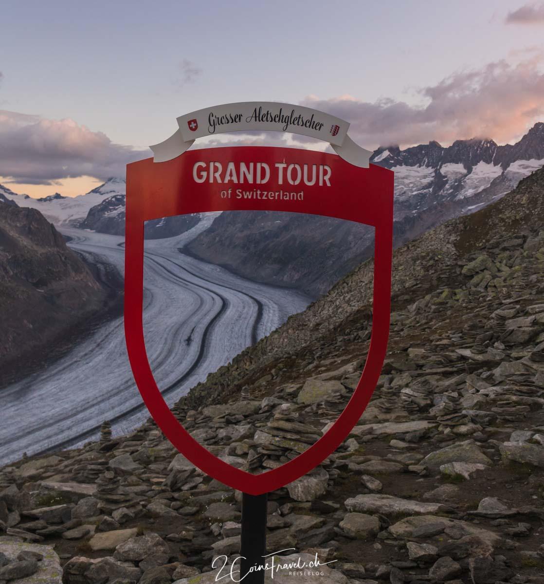 Grand Tour Foto Spot auf dem Aletschgletscher