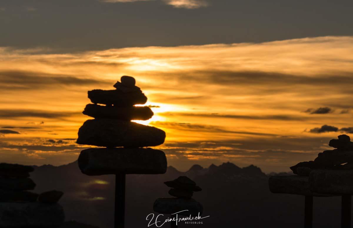 Sonnenaufgang auf dem Aletschgletscher