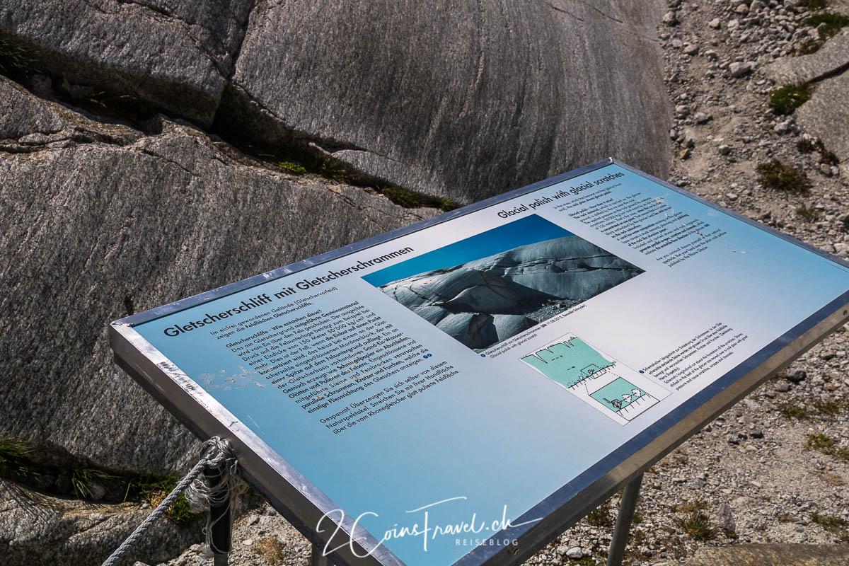 Informationstafel Rhonegletscher