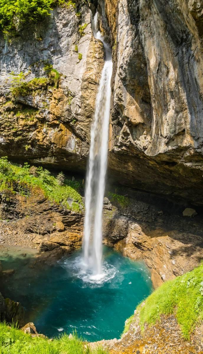 Bergli Stuber Wasserfall Klausenpass Glarnerland
