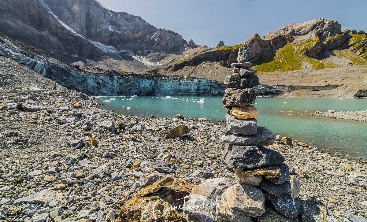 Steinmann am Gletschersee