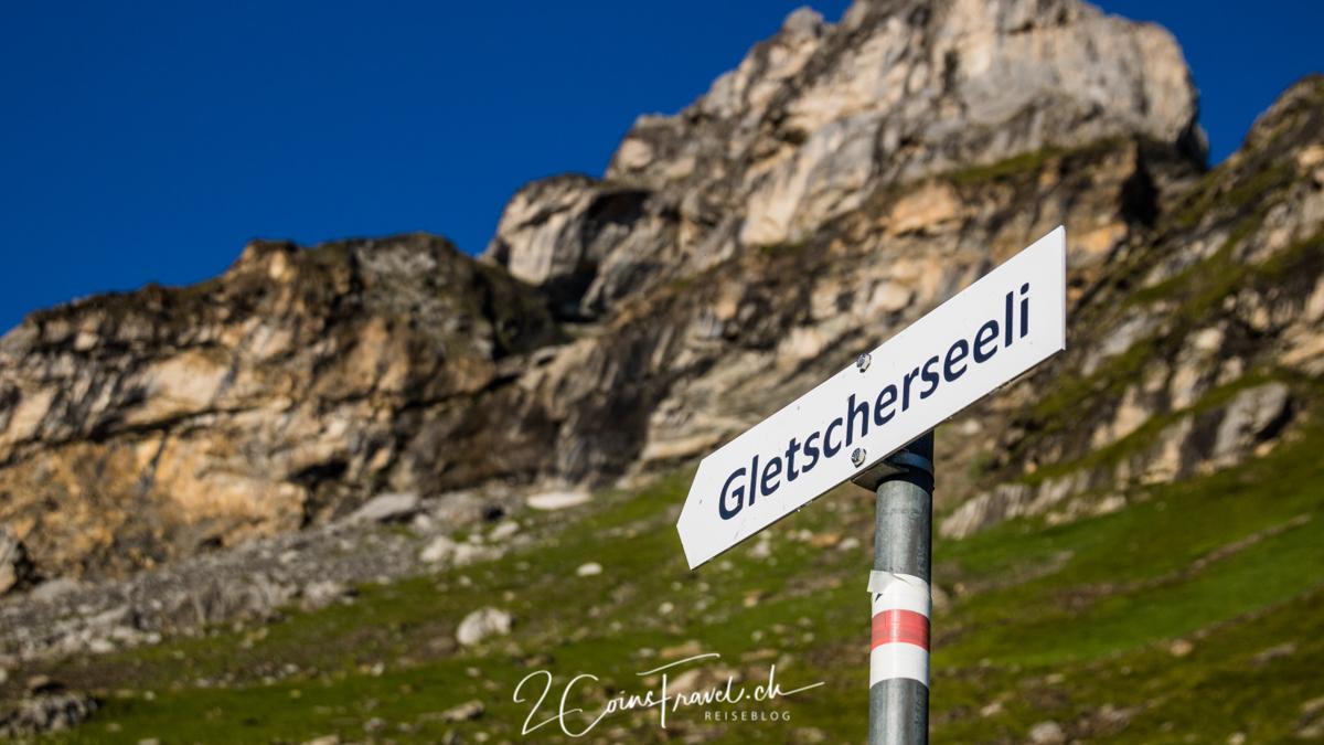 Wegweiser Gletschersee Klausenpass