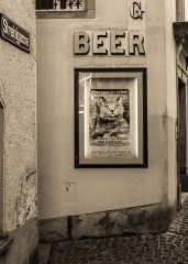 Zürich Schlüsselgasse Werbung