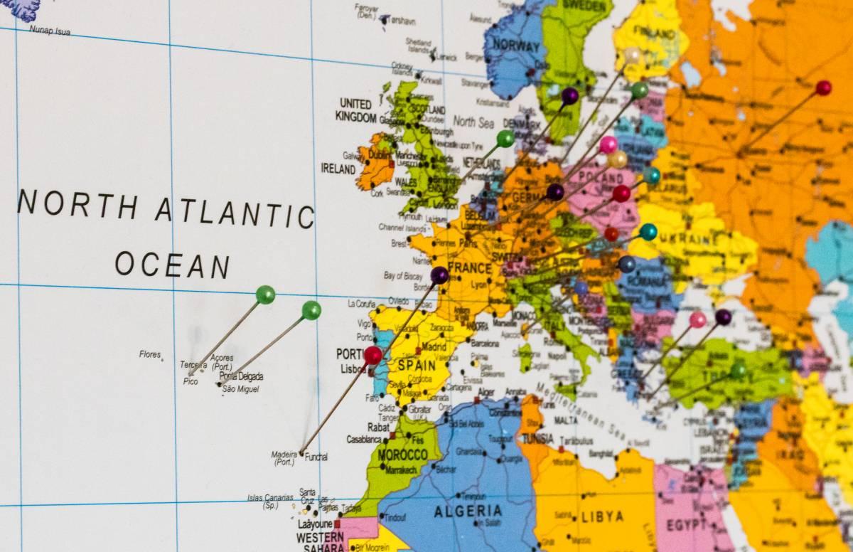 Landkarte Reiseplanung