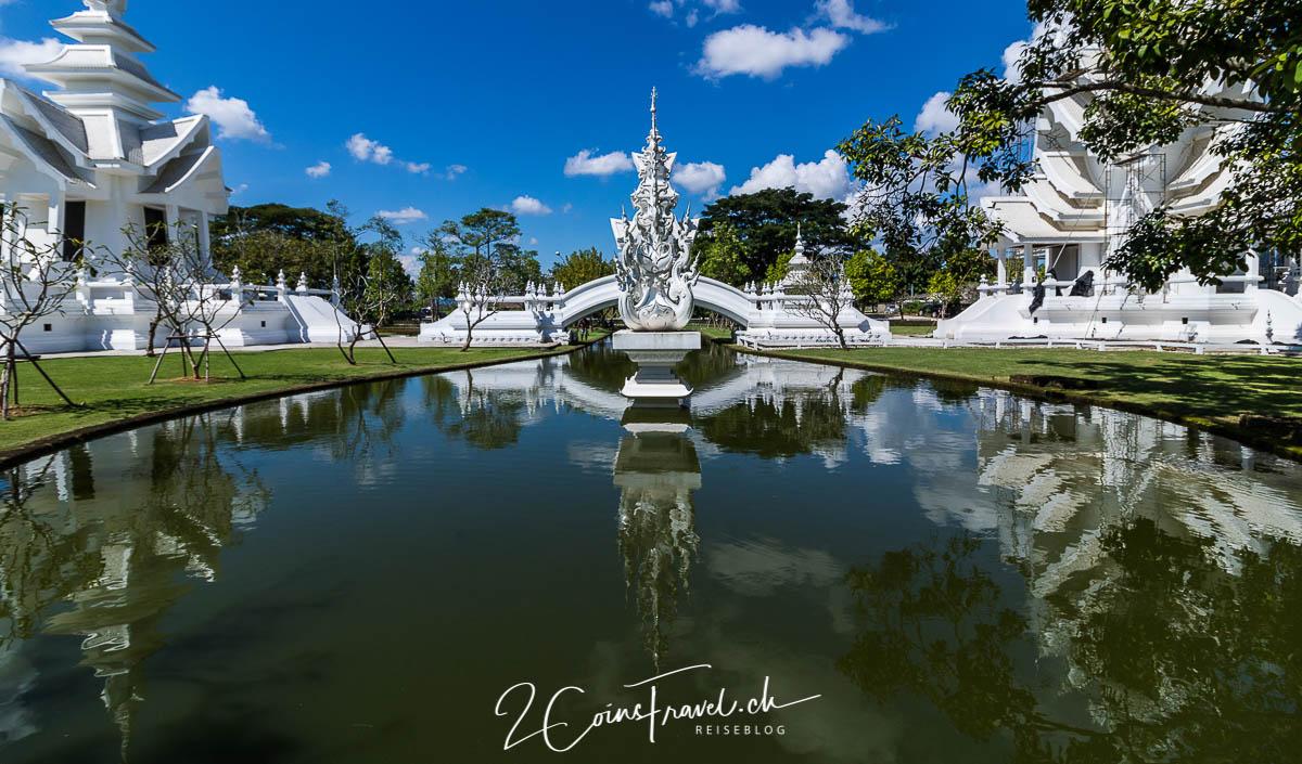 Spiegelung im Wasser vom Weissen Tempel
