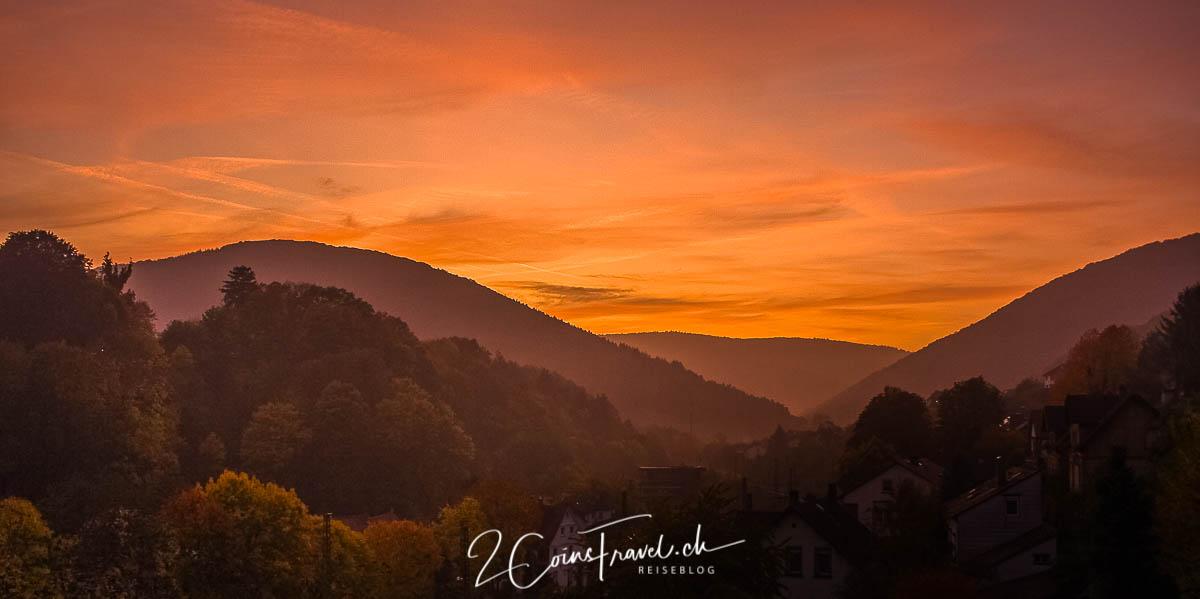Sonnenuntergang Neckarsteinach