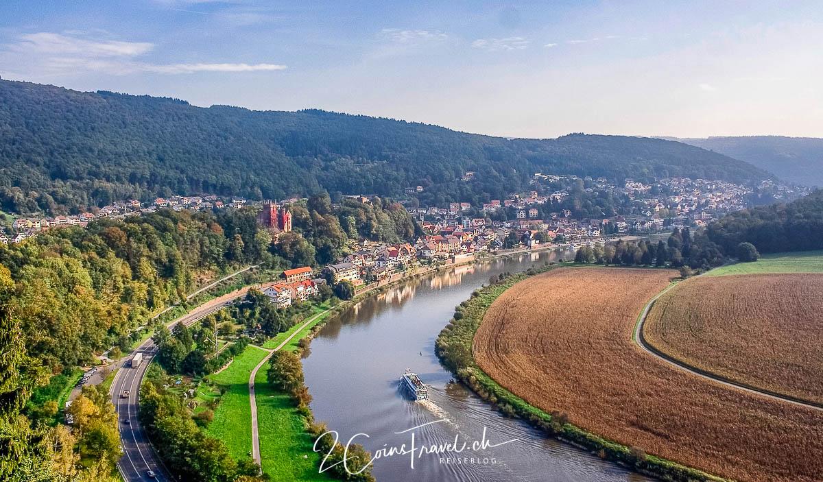Neckar Schleife Neckarsteinach