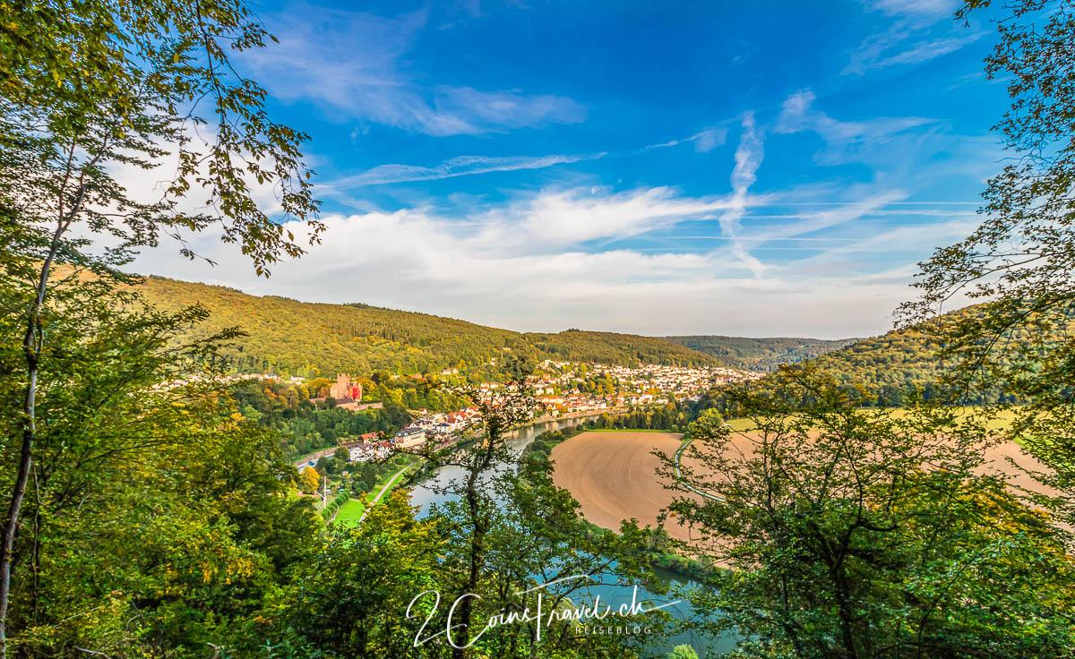 Burgenweg mit Blick auf Neckarsteinach