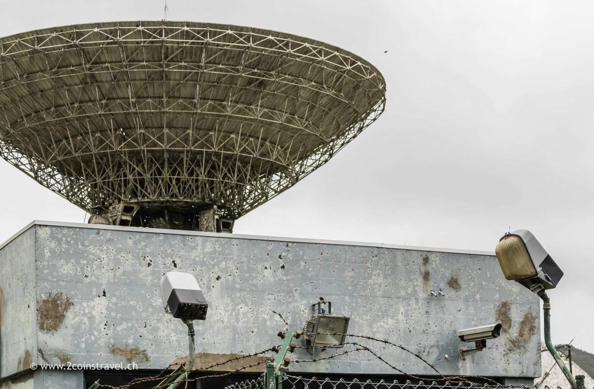 Satellitenstation auf Sao Miguel Azoren