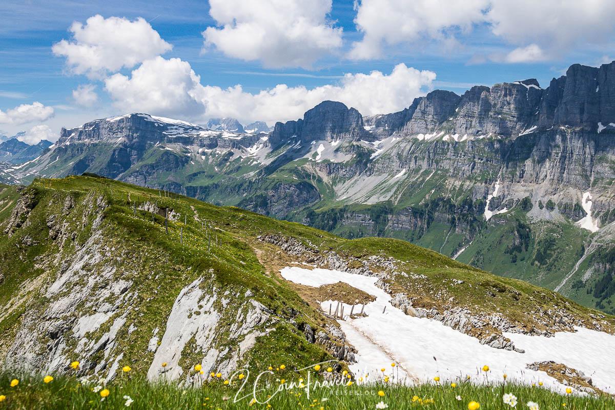 Blick zum Klausenpass vom Chamerstock