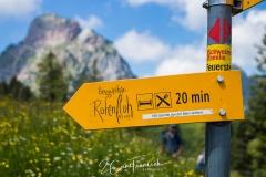 Rotenflue Wegweiser Bergstation