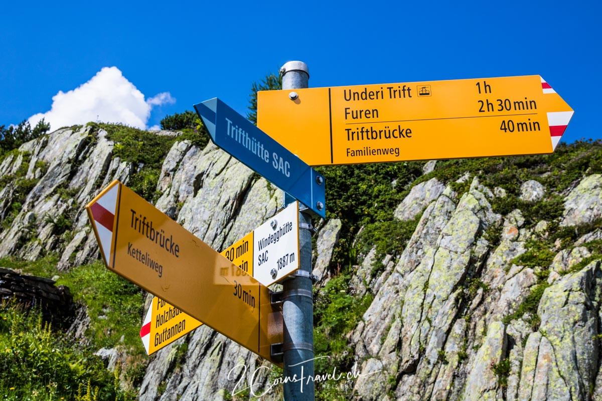 Weggabelung Windegghütte