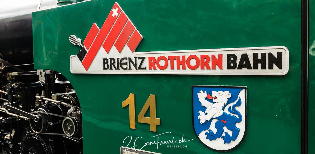 Aufschrift Brienzer Rothorn Bahn