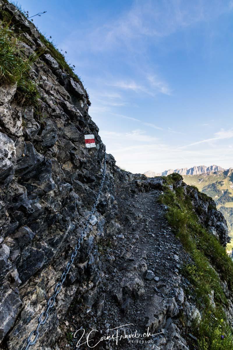 Wanderweg Chalktrittli Muttseehütte