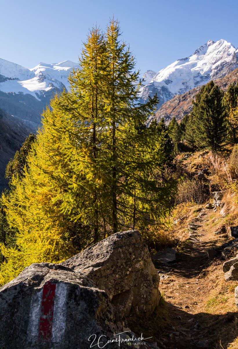 Wanderweg zur Bovalhütte