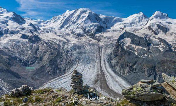 Liskamm und Gletscher
