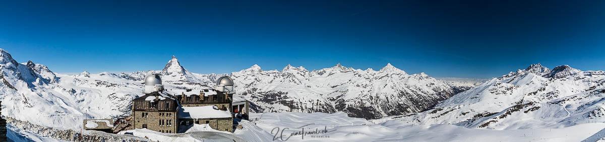Panorama vom Gornergrat Gipfel