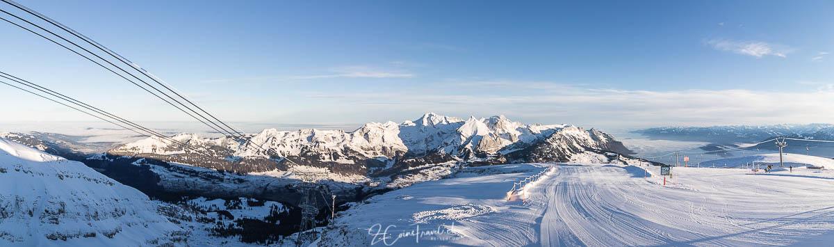 Panorama Alpstein und Säntis