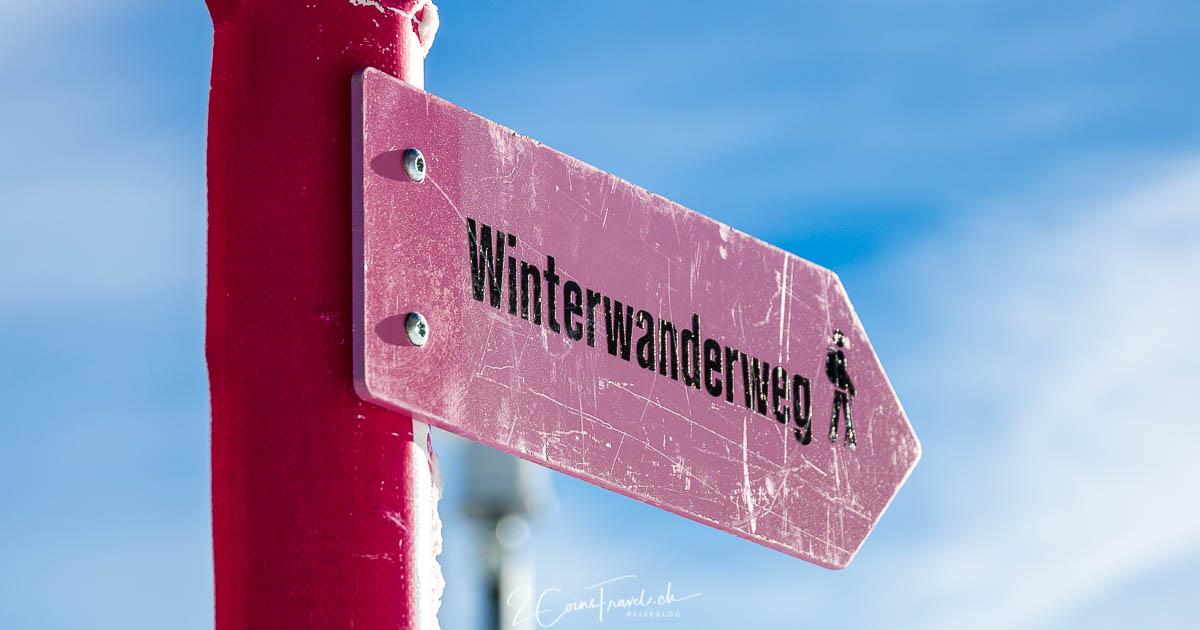 Winterwanderweg Chäserrugg