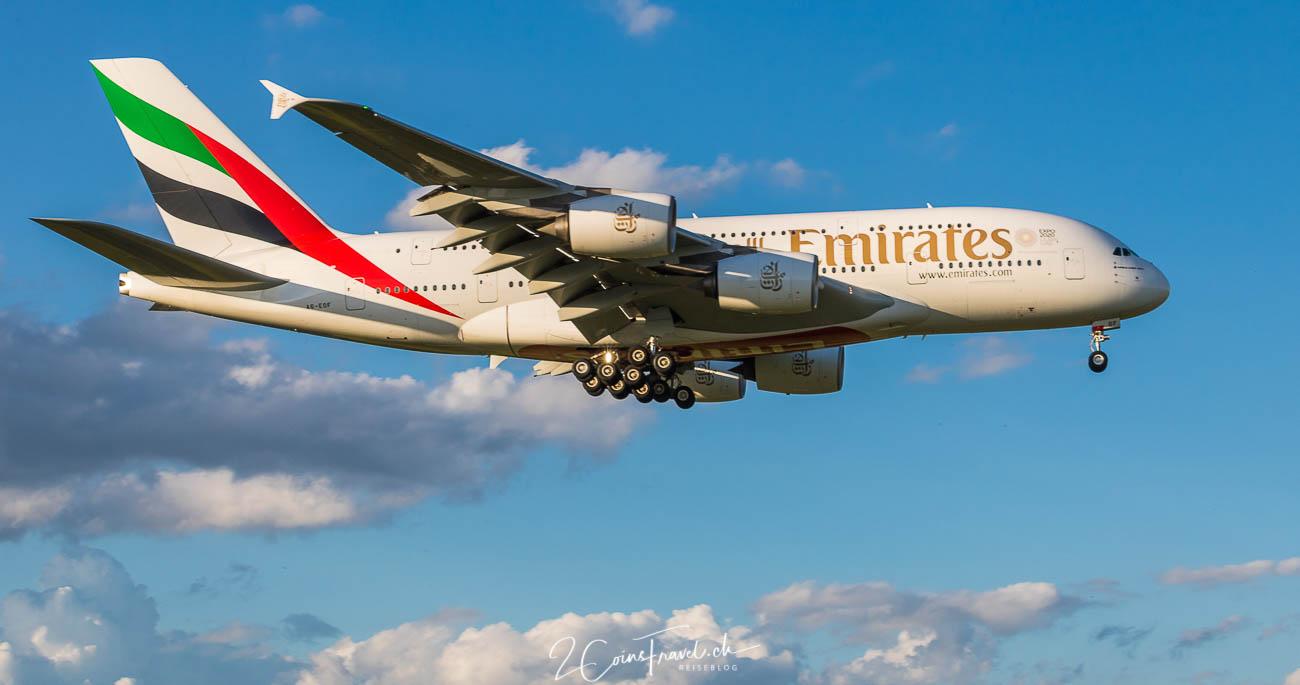 A380 am Flughafen Zürich