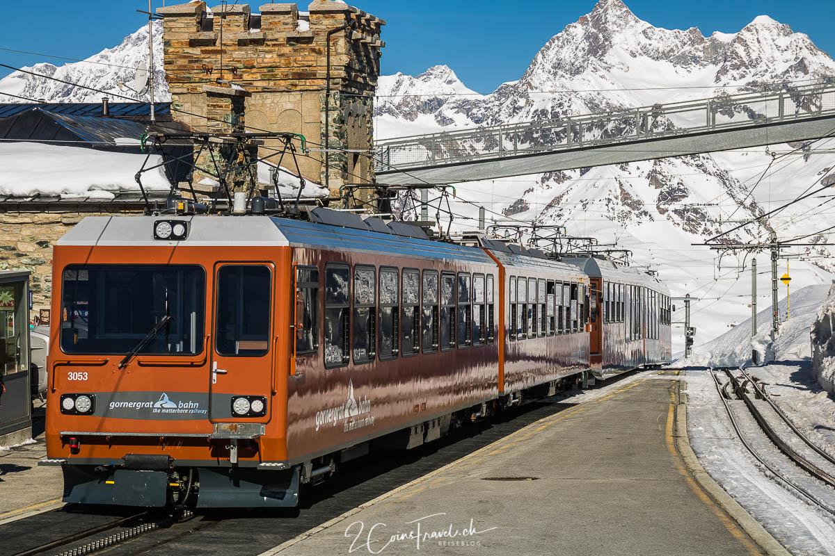 Gornergratbahn in der Bergstation