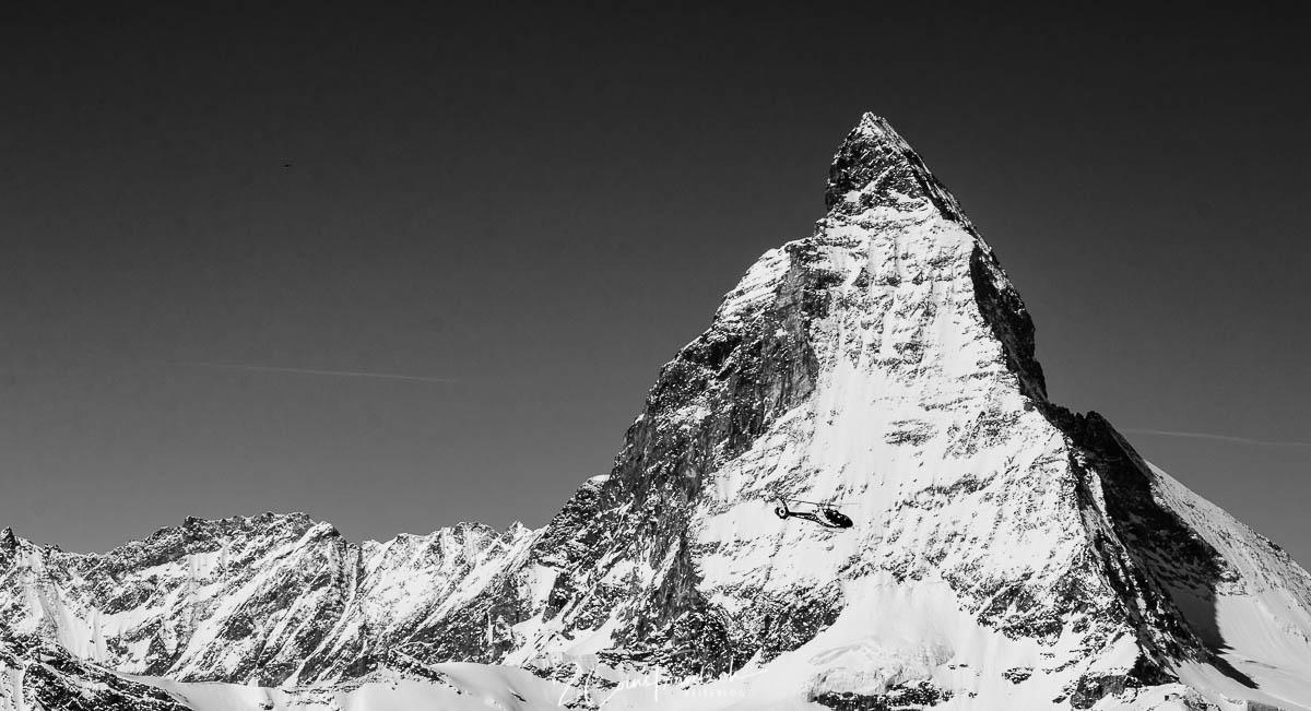 Matterhorn in Schwarzweiß