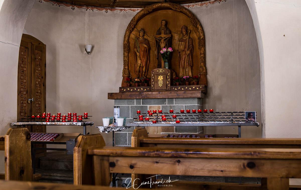 """Innenraum Kapelle Gornergrat """"Bernhard von Aosta"""""""