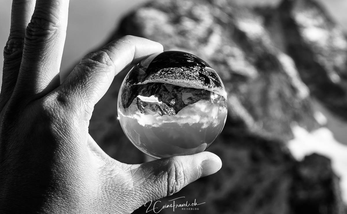 Lensball Aufnahme Diavolezza