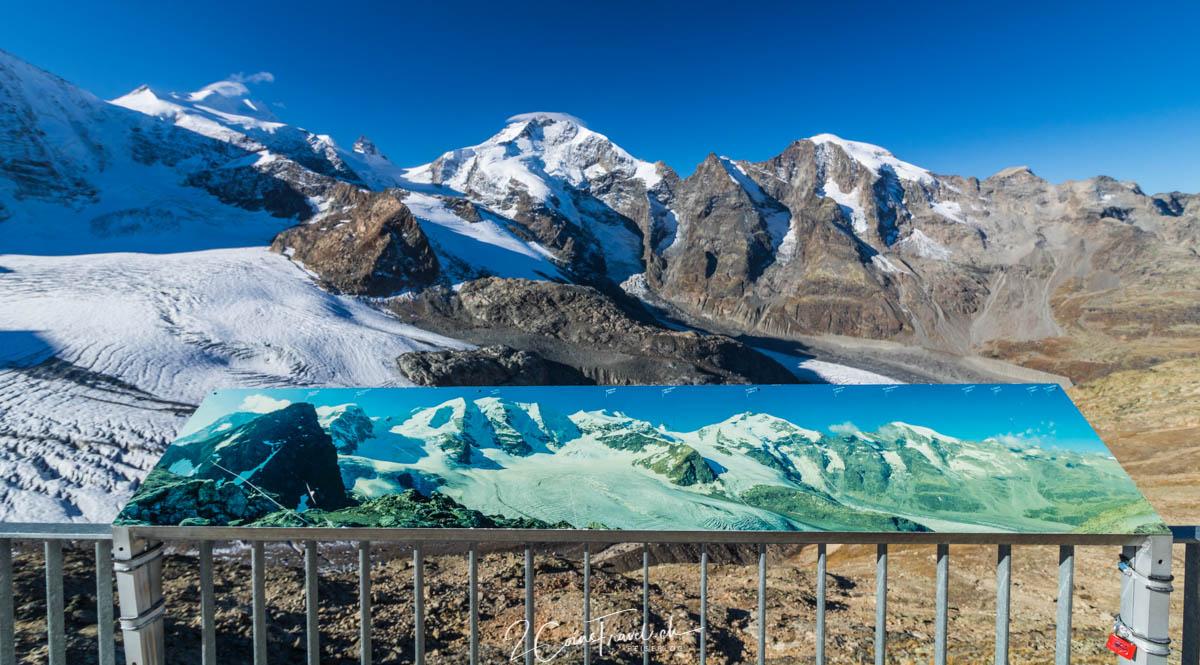 Panoramablick auf Berninamassiv