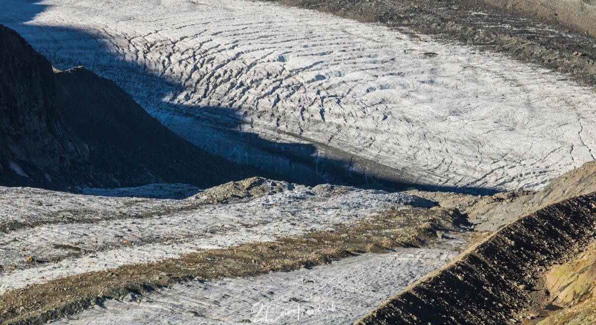 Gletscherspalten Pers- und Morteratschgletscher