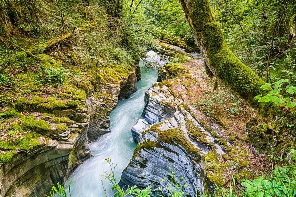 Schlucht am Fluss Flem bei Flims