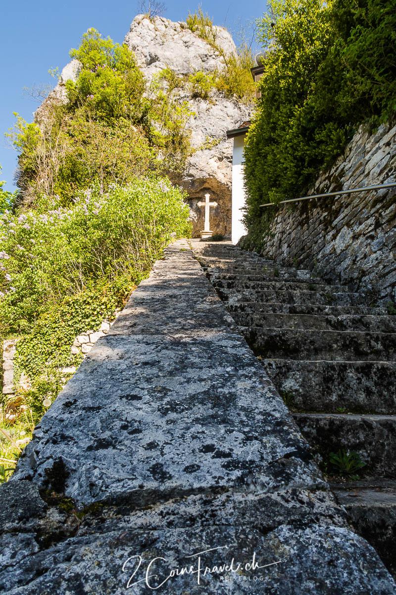 Treppe zur Ermitage Saint Ursanne