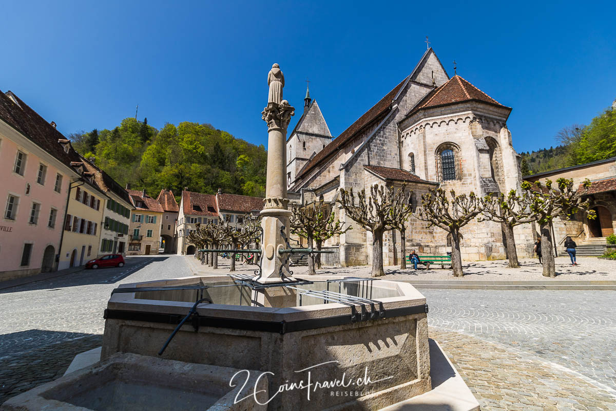 Marktplatz von Saint Ursanne