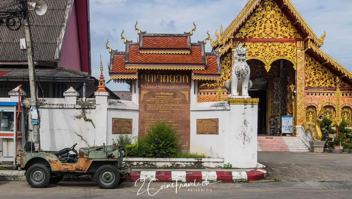 Eingang Wat Jed Yod Chiang Rai