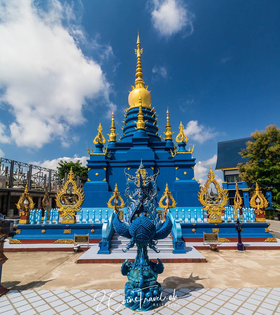 Tempelgebäude des blauen Tempels