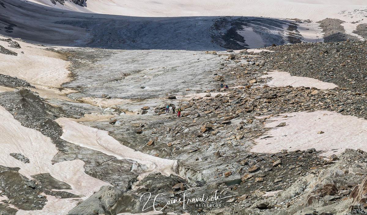 Tourengänger auf dem Gletscher