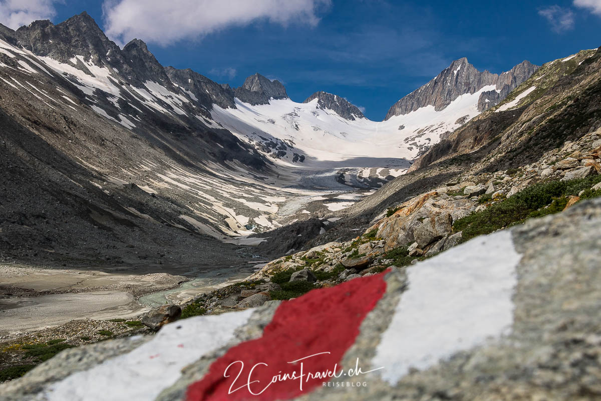 Wegweiser zum Oberaargletscher