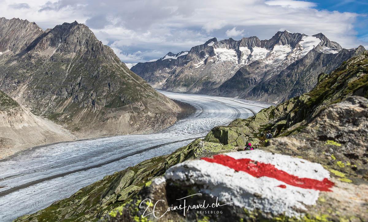 Wanderweg am Aletschgletscher