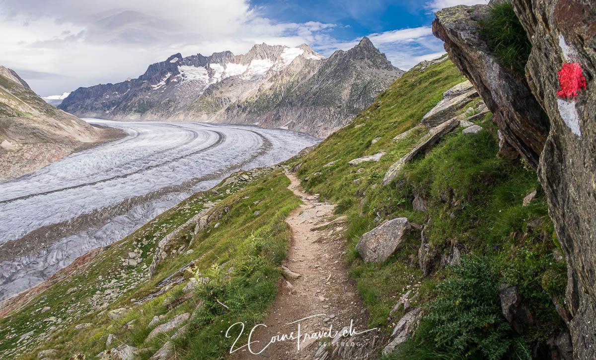 Wanderweg am Aletsch