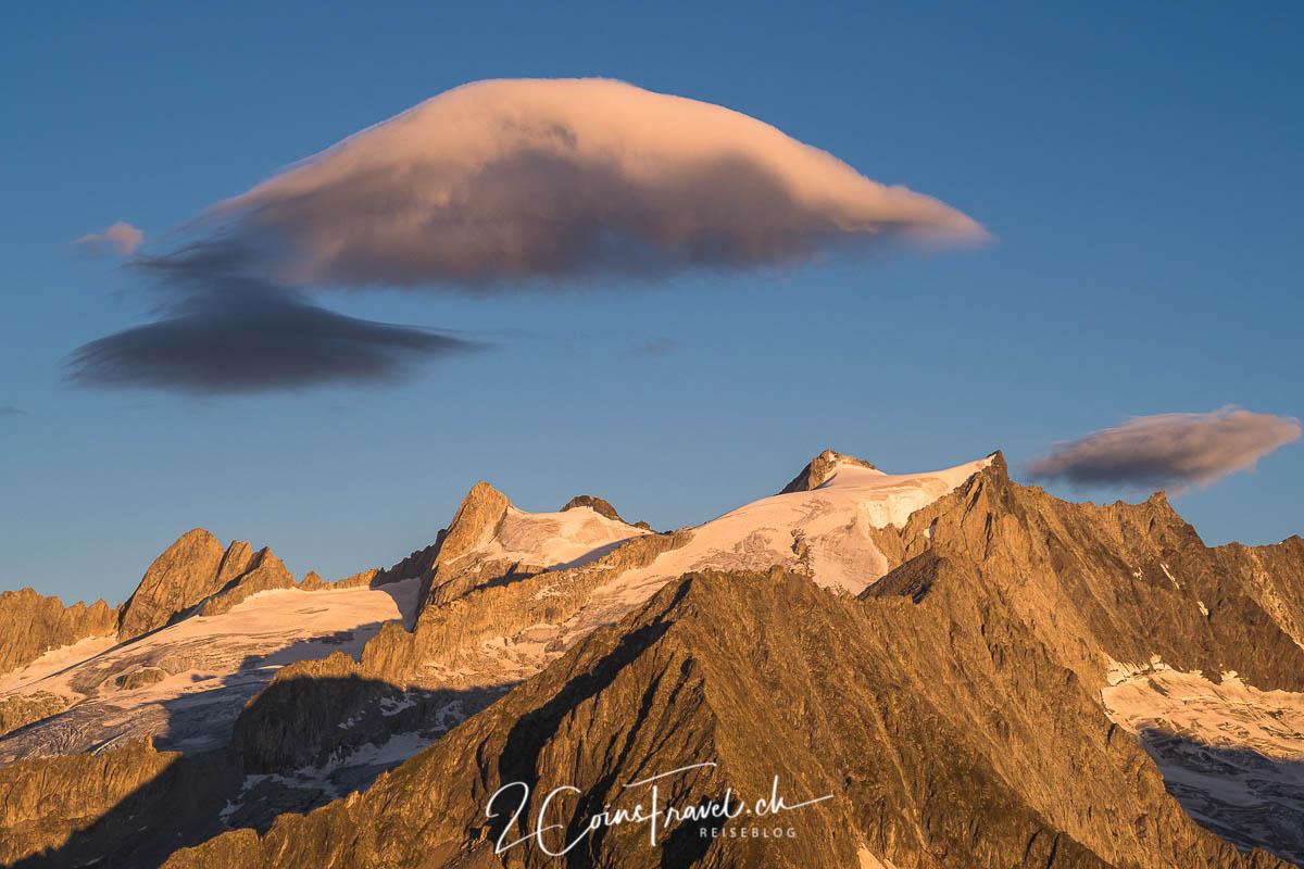 Wolken am Aletsch