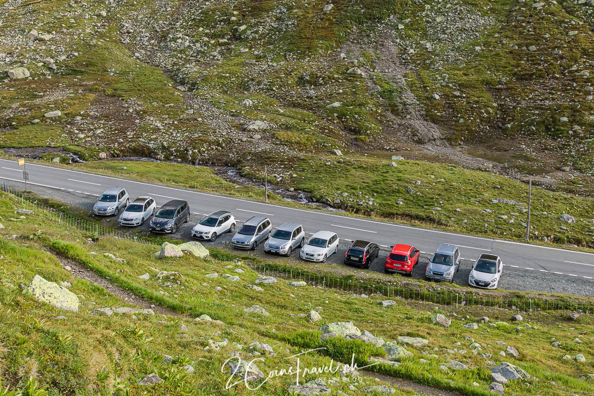 Parkplatz am Flüelapass