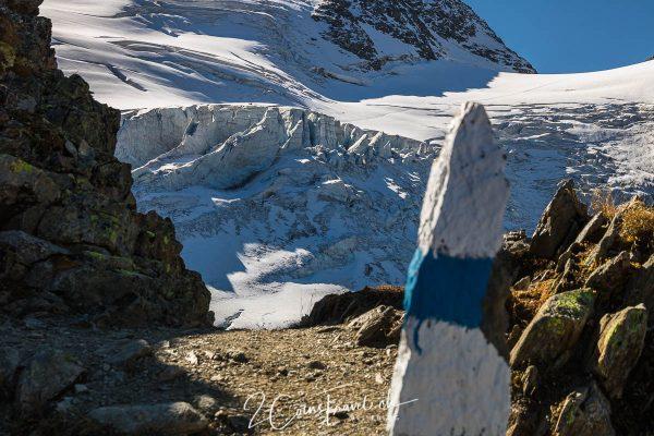 Blick zurück Gletscher