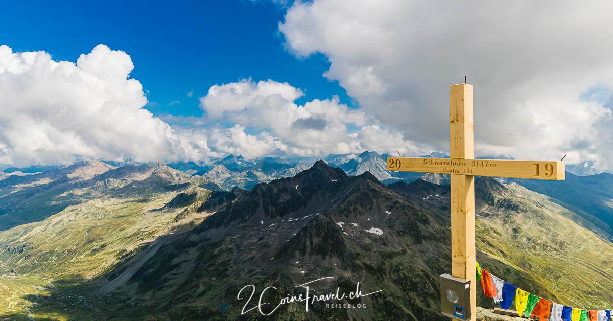 Gipfelkreuz Flüela Schwarzhorn