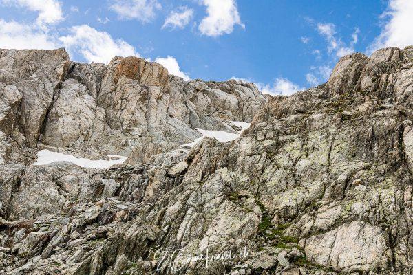 Abstieg zum Radönt Gletscher