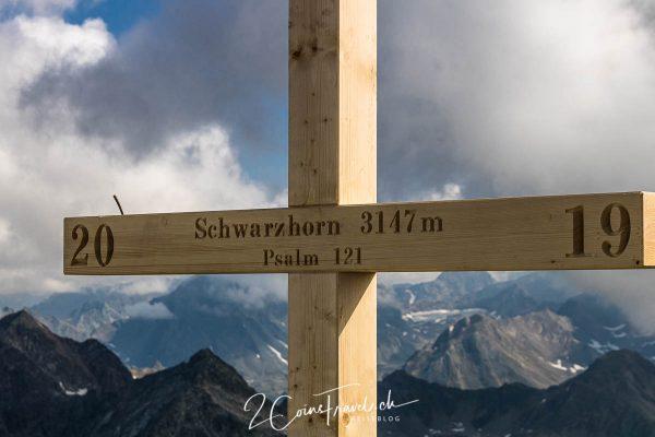 Gipfelkreuz Schwarzhorn