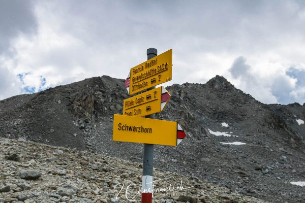 Wegweiser Radönt Gletscher