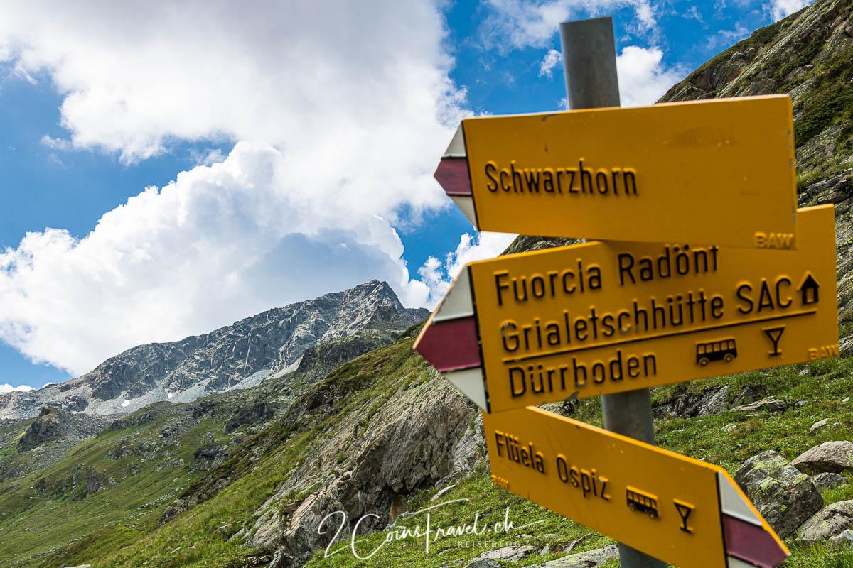 Wanderschild Schwarzhorn