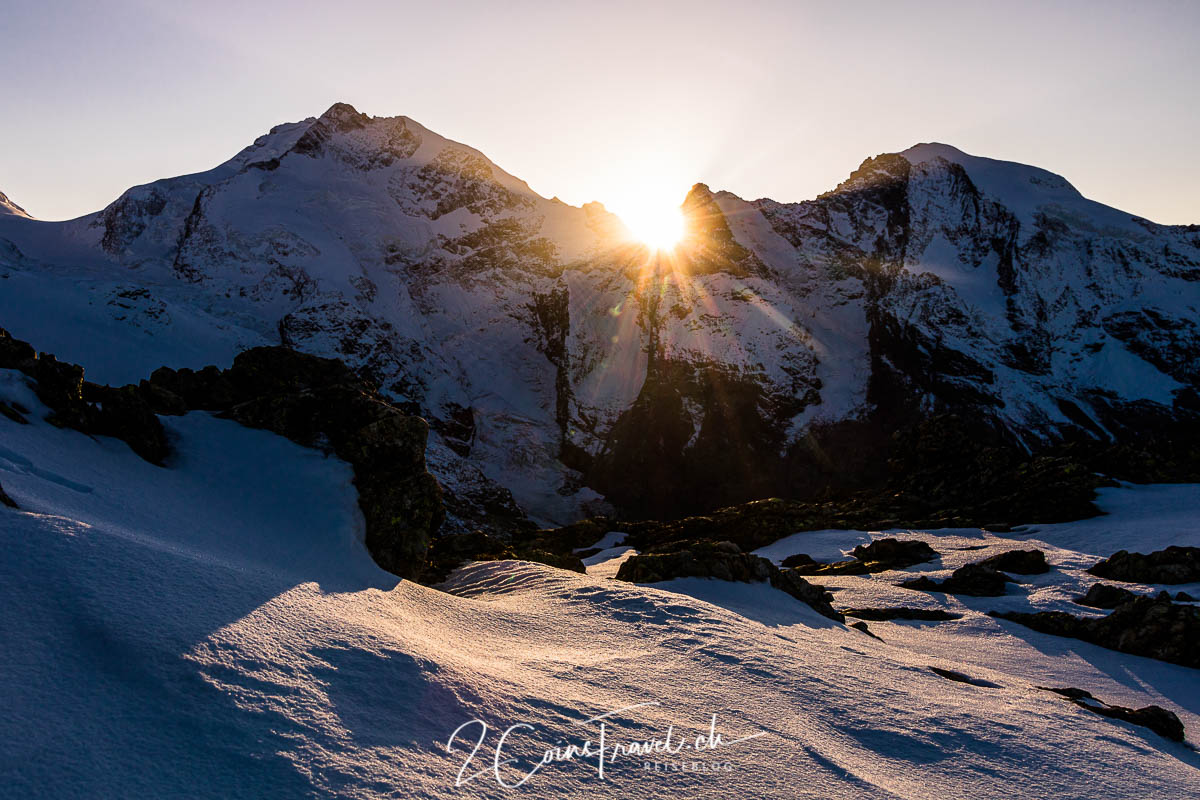 Sonnenuntergang Piz Bernina